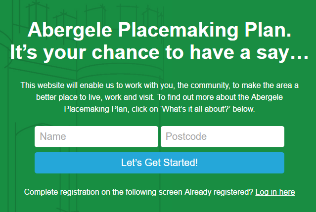 Abergele Place plan website