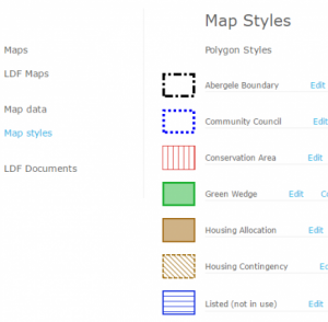 OpusMap map styles page